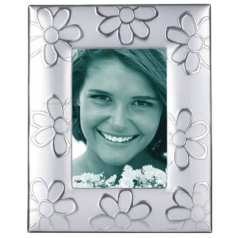 Cornice fiori argentum cm 13x18 cornice pvd fascia larga for Cornici 13x18