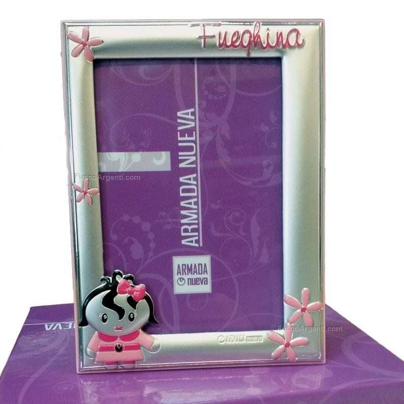 Cornice fueghina outlet cm 9x13 - rosa cornice argento bilaminato ...