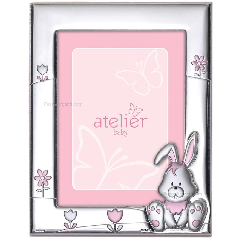 Portafoto coniglietto atelier cm 9x13 rosa portafoto for Cornici 13x18