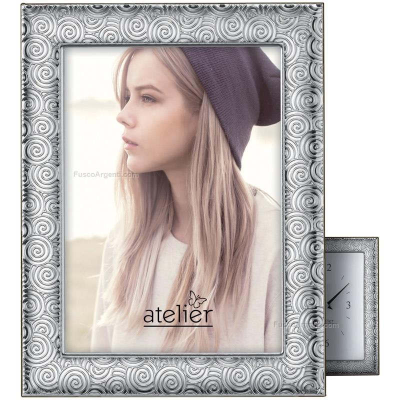 Picture frame twist atelier cm 6x9 silver pvd line wooden back ...