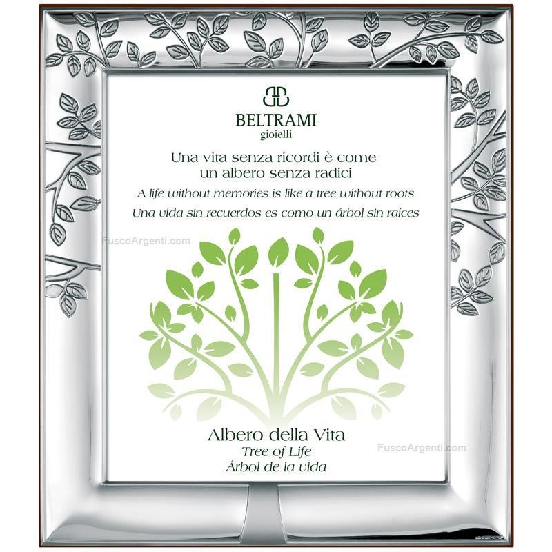 Cornice albero della vita beltrami cm 9x13 cornice argento for Albero della vita significato