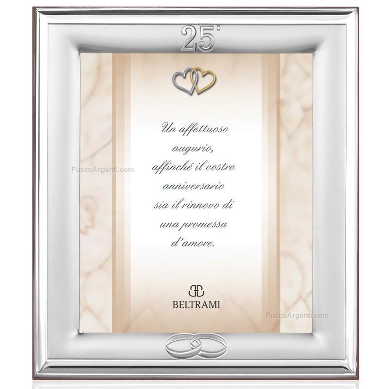 Cornice anniversario beltrami cm 13x18 25 argento for Cornici 13x18