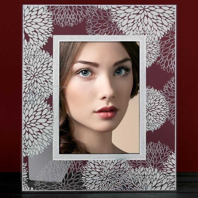 Cornice fiore beltrami cm 13x18 cornice vetro foglia for Cornici 13x18