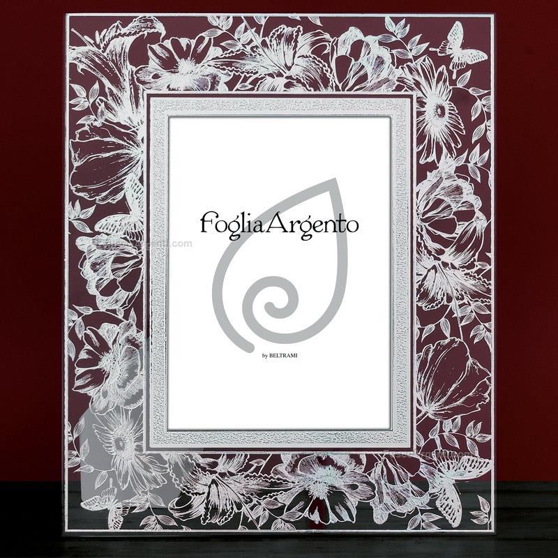 Cornice fiore farfalla beltrami cm 13x18 cornice vetro for Cornici 13x18