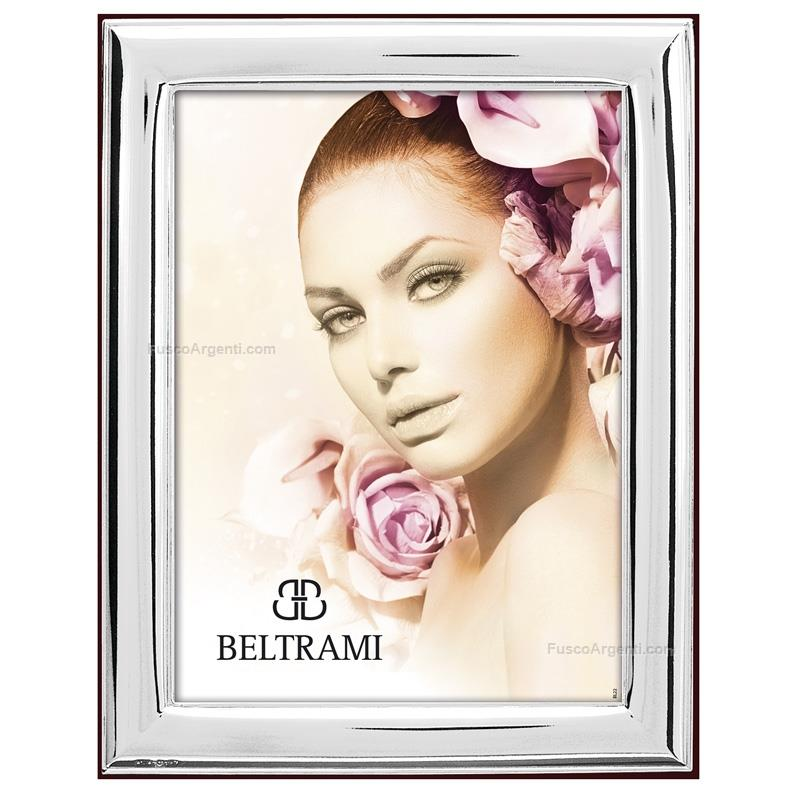 Picture frame smooth beltrami cm 6x9 silver plate line