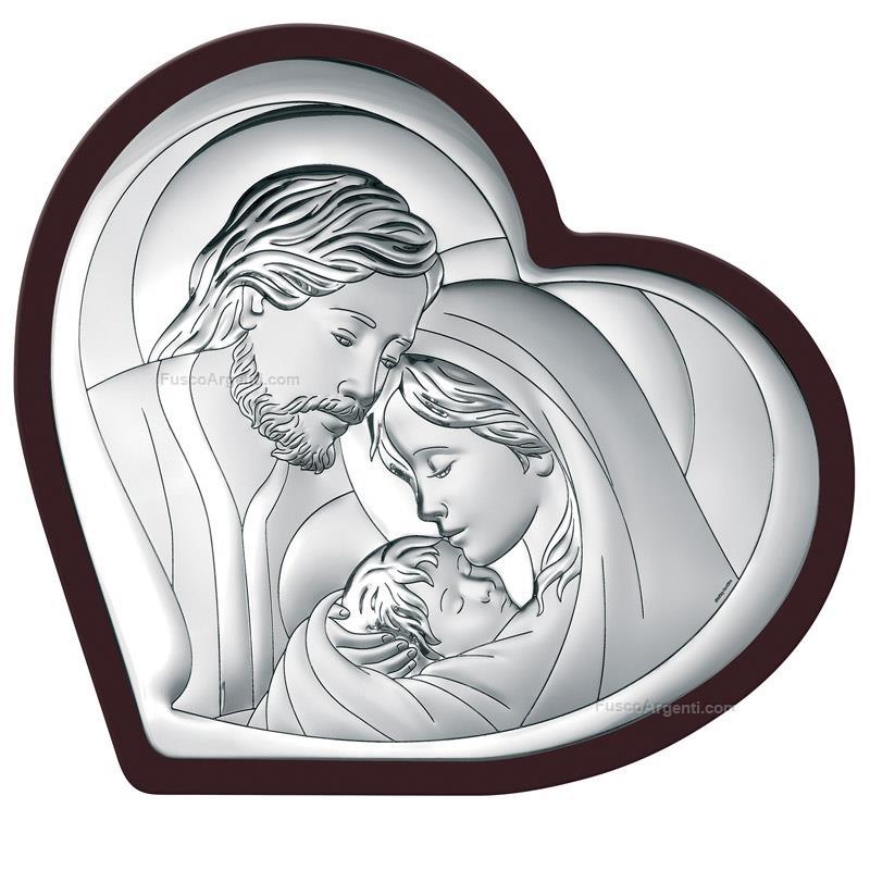 Icona Sacra Famiglia Beltrami Cm 92x9 Retro Marrone Icona