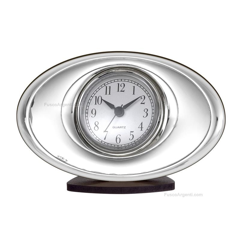 Orologio sveglia beltrami cm 17x11 moderno legno argento - Orologi per casa ...