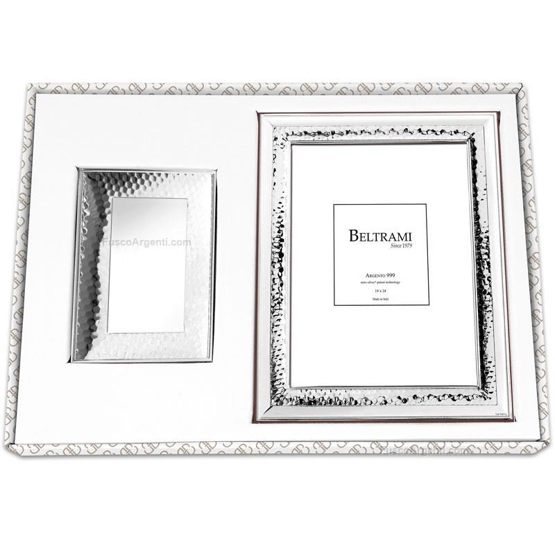 Photo frame and jewelry case beltrami cm 13x18 - case 13x18 silver ...