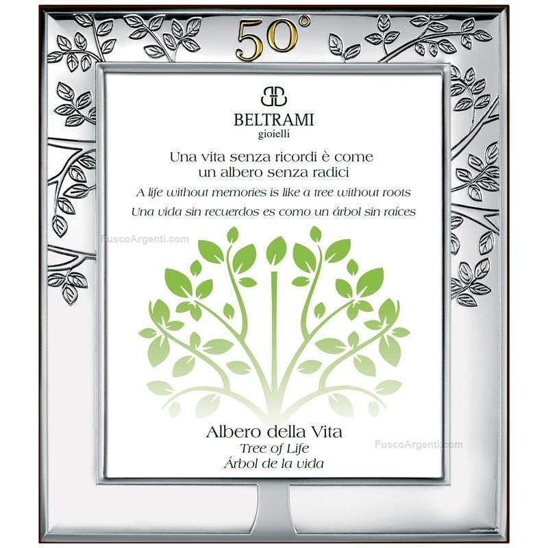 Tree of life anniversary frame beltrami cm 13x18 - golden wedding ...