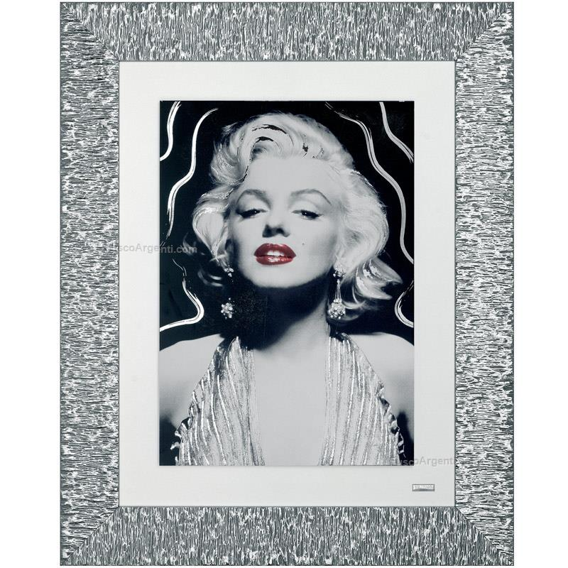 Printed picture marilyn beltrami cm 80x65 wood monroe with silver ...