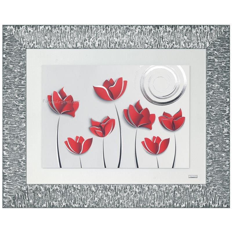 Quadro tulipani beltrami cm 80x65 quadro legno tulipani dettagli ...