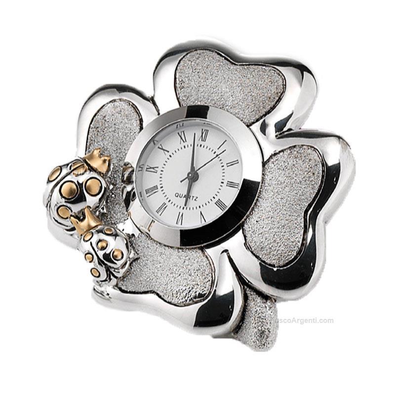 Orologio quadrifoglio kikk cm 8x8 orologio resina - Orologi per casa ...