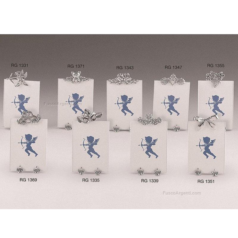 Cornice marco conti cm 5x7 - puttino argento vetro. n.b. il prezzo ...