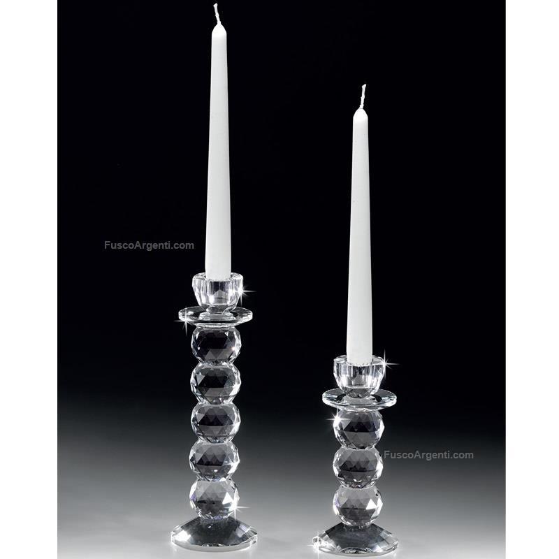 Candeliere In Cristallo Ranoldi Cm 7x7 H 16 Candeliere Monofiamma Cristallo Racf3051 Cristalleria Candelieri Offerta Fusco Argenti Gioielli