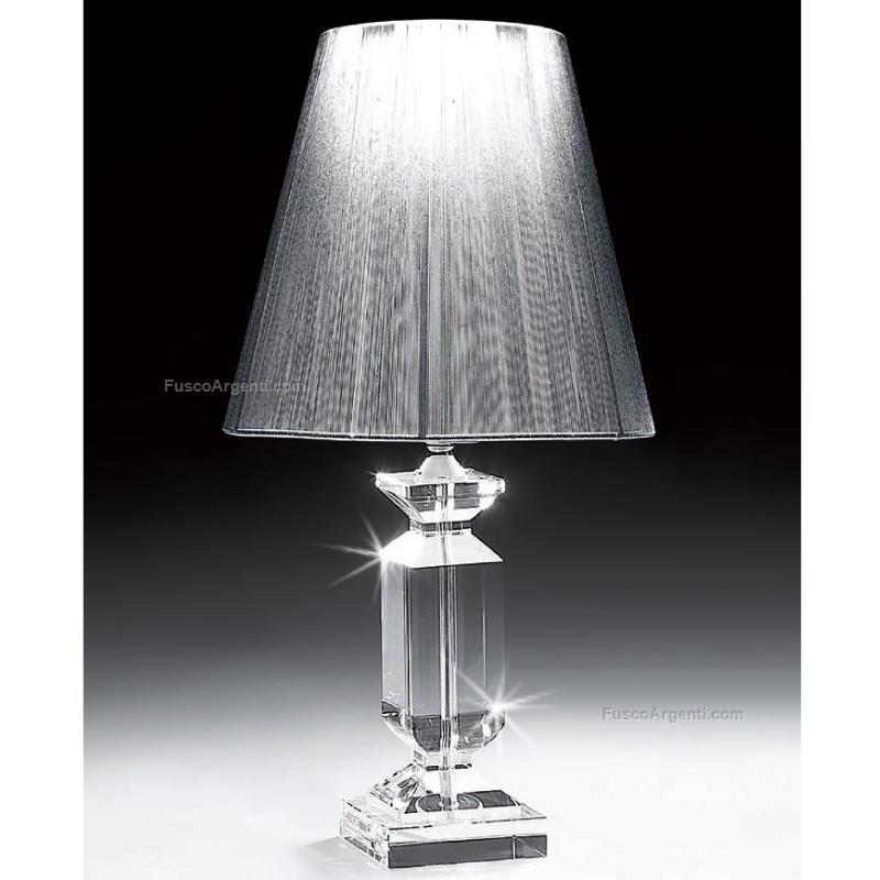lampada in cristallo ranoldi cm 35x60 lampada da tavolo