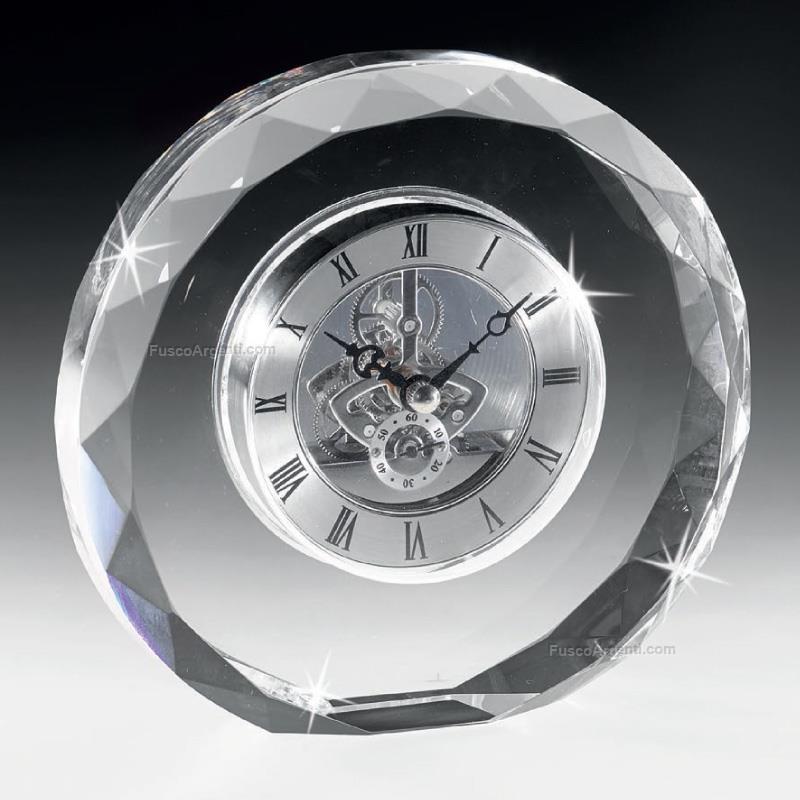 Orologio in cristallo ranoldi cm 16x16x4 orologio da - Orologi per casa ...