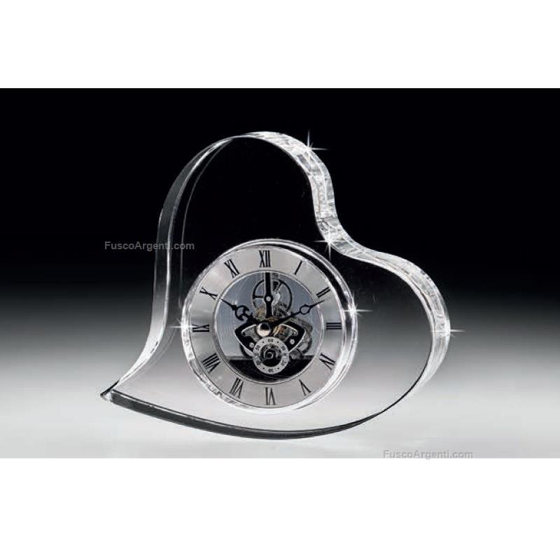 Orologio cuore ranoldi cm 18x4x16 orologio da tavolo cuore - Orologi per casa ...