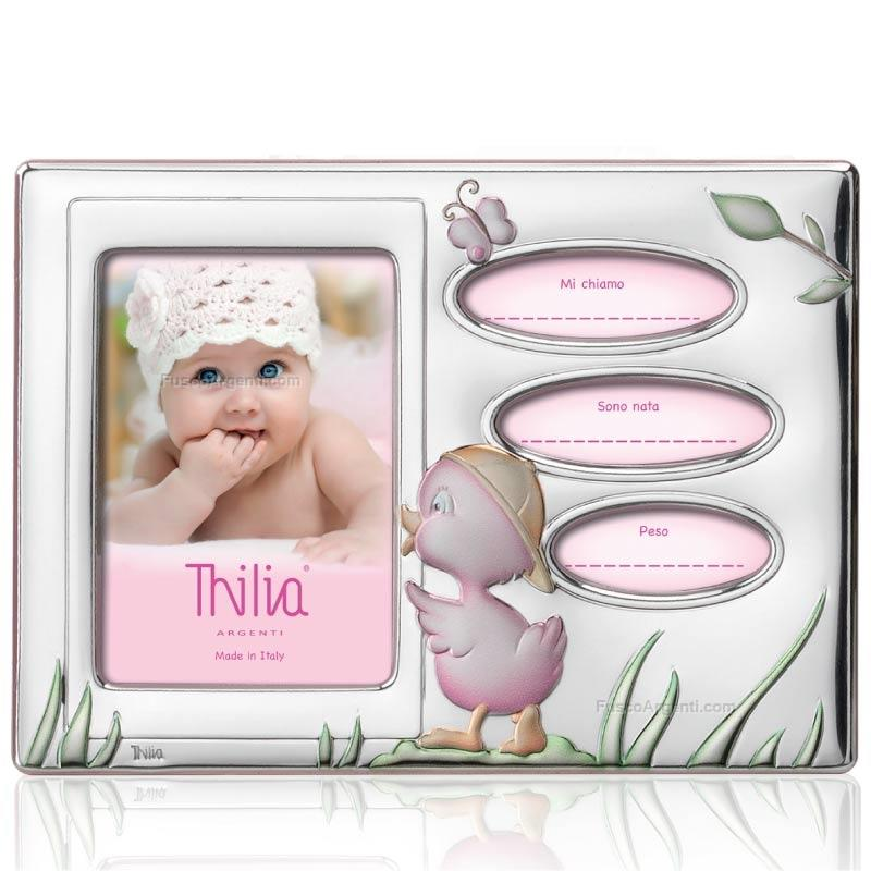 Baby photoframe thilia argenti cm 17x12 - int 6x9 - pink