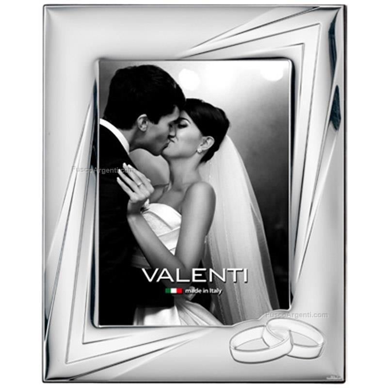 Cornice matrimonio valenti & co. cm 13x18 - fedi cornice argento ...