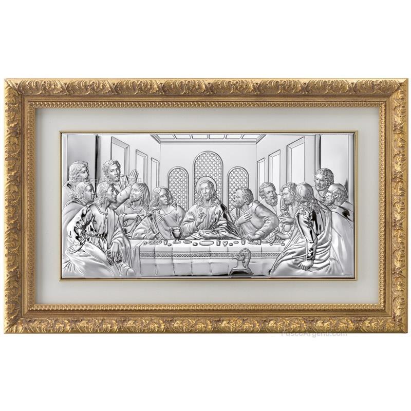Quadro ultima cena valenti & co. int. cm 50x245 ultima cena argento ...