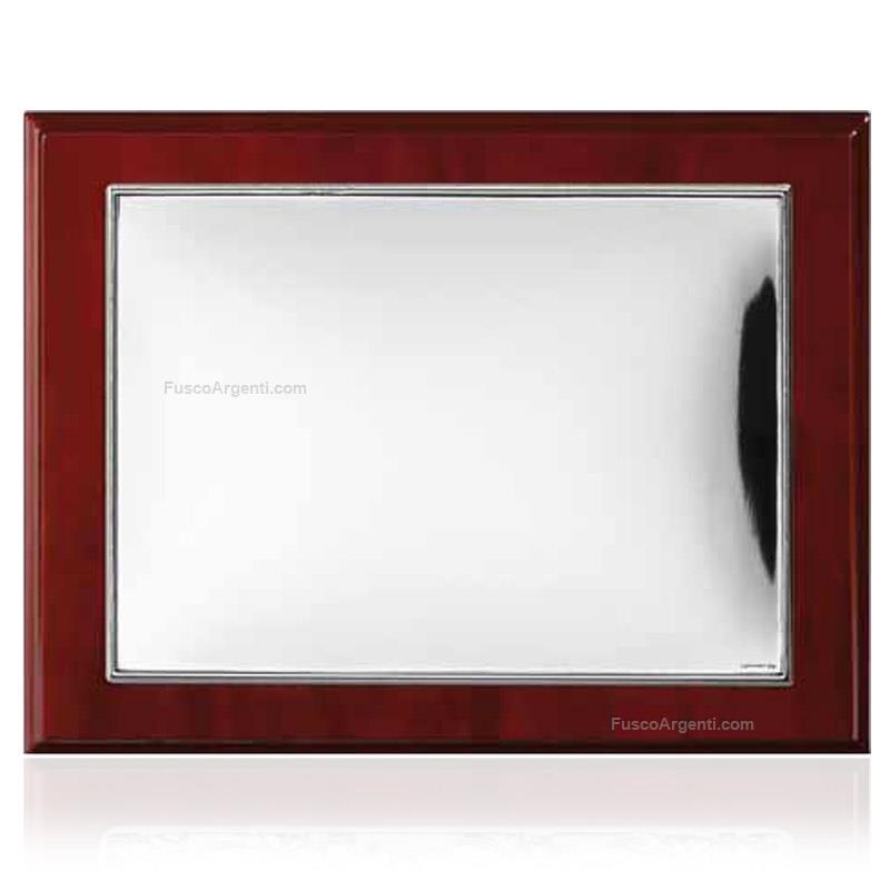 Targa liscia valenti co cm 13x18 argento laminato da for Cornici 13x18