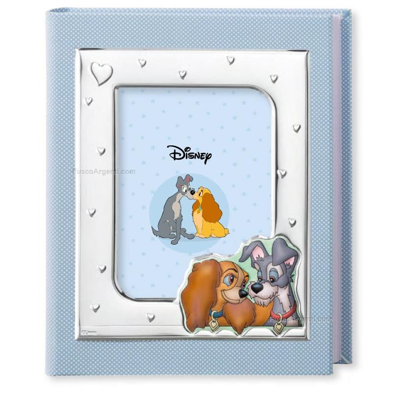Baby Album Lady And The Tramp Valenti Disney Cm 25x30 Light Blue Baby Photo Album Lady And The Tramp With Silver Vld331 3c Photo Album Baby Line Special Price