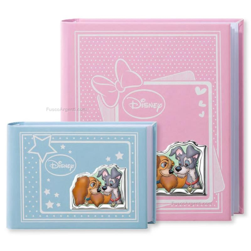 Baby Album Lady And The Tramp Valenti Disney Cm 15x20 Light Blue Baby Photo Album With Silver Plate Lady And The Vld332 1c Photo Album Baby Line Special Price